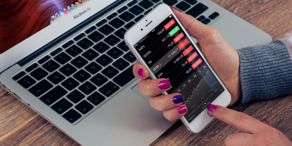 using a stock broker mobile app