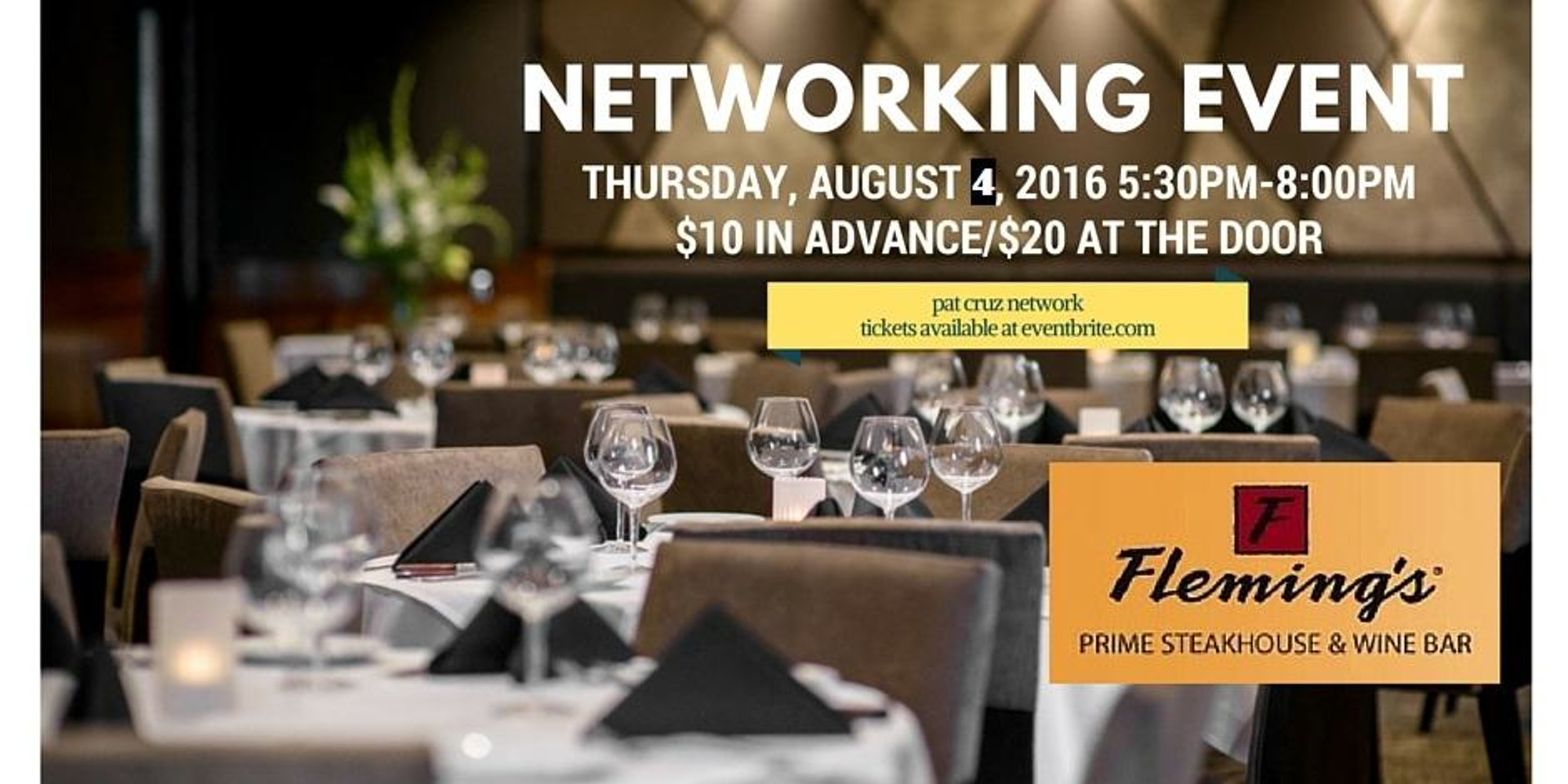 After Hours Networking at Flemings Steak House Providence
